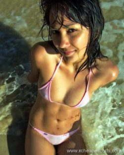Hot girl in the water