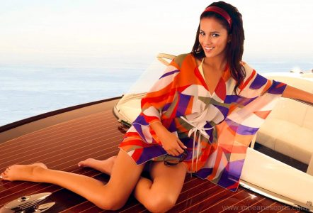 Sexy woman on a boat