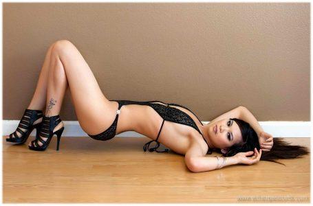 Hot woman in black